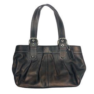 Coach Black Soho Pleated Leather Purse F13732